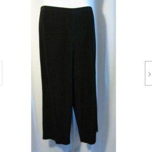 Chico's Travelers 3 Black Travel Knit Capri Pants